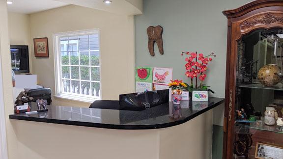 front counter – Laguna Beach Dental Practice Sale